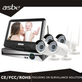 4CH монитор дюйма набора With10.1 камеры CCTV IP WiFi NVR Sync 960p беспроволочный