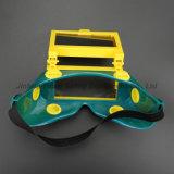 lunettes de Weling de taille de vue de 108X50mm avec la glace foncée de soudure (WG115)