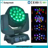 illuminazione mobile della fase della discoteca del DJ della testa del fascio LED di 19*15W RGBW