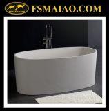 Ellipse-freistehende Badewanne in der festen Oberfläche der weißen Farbe (BS-8610)