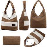 Handbag 2018 Handbags Women PU Leather方法キャンバスの女性革製バッグの女性カスタム女性のハンドバッグニースデザイン袋(WDL0502)