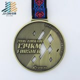 Hot Products Casting Bronze Paint Custom Taekwondo Medal with Ribbon