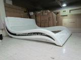 Кровать типа Европ способа A091 обитая кожей