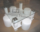 10mm Clear Square Toughened Tempered Glass