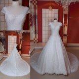 Cristal Ivory que perla o vestido de casamento longo Z11130 do vestido nupcial do trem