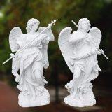 Het natuurlijke Marmeren Uithollende Standbeeld van de Engel voor Ornament t-6034 van de Tuin