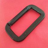 中国の正方形の黒いKeychain Carabinerクリップアルミニウムスナップのホック