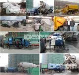 Pompe concrète stationnaire mobile de remorque fonctionnée avec le camion de mélangeur concret de 20 à 100 m3