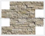Colore giallo della pietra della natura della Cina, mattonelle di marmo dorate e rustiche per la parete