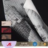Il tessuto per l'applicazione domestica della tappezzeria della mobilia della decorazione, tessuto da arredamento del cuoio del Faux della pelle di serpente di cuoio, insacca il tessuto