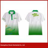 Kundenspezifische Polyester-preiswerte Förderung-lange Hülsen-Polo-Hemden (P162)