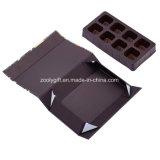 Rectángulo de empaquetado del chocolate plegable de encargo de la impresión con el divisor