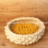 Chunky Hand Knit Pet Dog Wool Mat Blanket Bed House