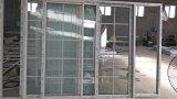 オーストラリアのグリルが付いている標準大きいサイズの倍の窓ガラスのアルミニウム引き戸