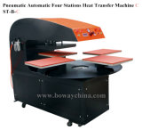 Maglietta automatica pneumatica della stampatrice della stampante della maglietta di scambio di calore di disegno delle 4 stazioni U