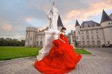 De rode Avondjurken van de Toga van de Avond van Ballgown van de Kralenversiering Bruids (TJBLCT019)
