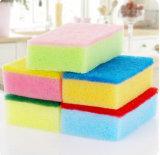Красочный домашних хозяйств очистки губки с абразивным покрытием