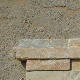 Angolo beige/giallo Ledgestone dell'ardesia per le mattonelle della parete