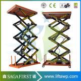 plate-forme électrique hydraulique de levage de ciseaux de 1ton 2.5ton 3ton