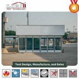 Tente en aluminium horizontale avec le maçonnage en verre pour l'événement extérieur