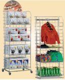 전시 단화 슈퍼마켓 대 선반 공장을 광고하는 도매 크롬 금속 와이어 격판덮개 소매 지면 전람