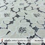 Tela de algodão do laço do vestido do jacquard da forma de matéria têxtil (M3410)
