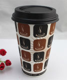 16oz Disposable Single Wall Coffee Paper Cup mit Lids/Cover