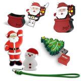 Disco popolare del USB del PVC di abitudine del regalo di natale