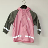 Solid Pink PU Revestimento de chuva reflexivo para crianças / bebê