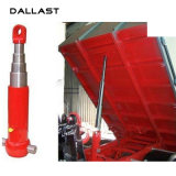 Cilindro telescópico do petróleo hidráulico do Underbody com pistão Rod para a descarga do lado do caminhão de descarga