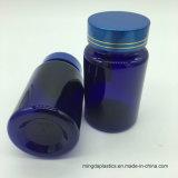 Bottiglia blu di plastica dell'animale domestico aperto facile di piccola dimensione di figura rotonda del commestibile del campione libero