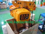 Elk 7,5T Lowe de marge de manoeuvre palan électrique à chaîne avec chariot motorisé (CE-ISO approuvé)
