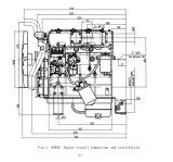 N 485D ModelDieselmotor voor het Gebruik van de Reeks van de Generator