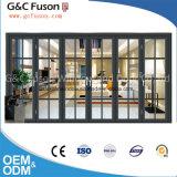 Uitstekende kwaliteit met het Glas die van het Aluminium van de Fabriek Deur vouwen