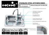 流し、台所の流し、ステンレス鋼の上の台紙単一ボールの台所の流し