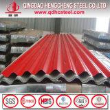 Tôle d'acier ondulée galvanisée colorée pour le toit