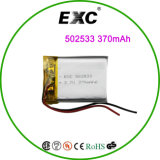 502533 3.7V 350mAh Rechargeable Li-Polymer Battery
