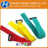 Gancho e cinta plástica ajustáveis personalizados do laço, fita mágica