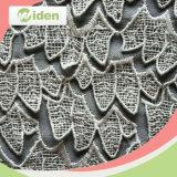Noble bordado 100% poliéster química tela del cordón