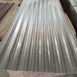 亜鉛上塗を施してある波形鉄板の金属の屋根瓦シート