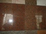 自然な石G562のカウンタートップのための花こう岩によって磨かれるかえでの赤いタイルか平板か壁のカバーまたはフロアーリング
