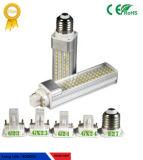 5W AC85-265V 180 LED Stecker-Licht mit G23 Unterseite des G24-E27 LED und freiem Raum/milchigem Deckel