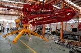 Hgy 17m de Colocação de concreto com 4 rodas da barra de reboque e o controle remoto