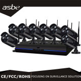 cámaras de vigilancia impermeables sin hilos de la seguridad del CCTV del kit de 8CH 1.3MP NVR para el hogar