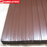 Placa de cobertura de ferro galvanizados a quente/folha de metal corrugado galvanizado médios
