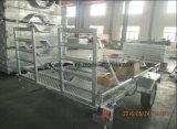 10X6 geremde Rit op Aanhangwagen ATV/de Aanhangwagen van de Auto met de Vloer van het Netwerk