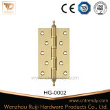 Tür-Verschluss-Befestigungsteil-Edelstahl-Messingscharnier 2bb (HG-0001)