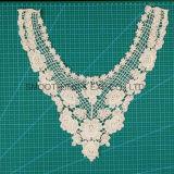 Collier en gros de lacet de broderie de machine de mode pour le tissu de coton de filles