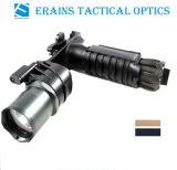 Erains Tac Optics Tactical 550 Lumens Dura Alumínio Grip & LED Light Lanterna LED com lâmpada de leitura anexada com montagem Qd