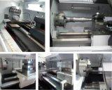 중국 고속 Cknc61125 편평한 침대 CNC 선반 기계
